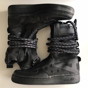 Nike SF Air Force 1 High Black-Dark Grey Boot